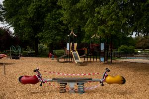 Closed play area at St Nicholas' Park, Warwick (Jacob King/PA)
