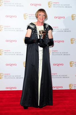 Grayson Perry with the Best Specialist Factual Programme Award for All in the Best Possible Taste at the 2013 Arqiva British Academy Television Awards at the Royal Festival Hall, London. PRESS ASSOCIATION Photo. Picture date: Sunday May 12, 2013. See PA story SHOWBIZ Bafta. Photo credit should read: Ian West/PA Wire