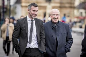 Keith Gillespie and Liam Beckett as the funeral of Harry Gregg takes place at St PatrickÕs Church in Coleraine on February 21st 2020 (Photo by Kevin Scott for Belfast Telegraph)