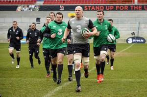 Ireland holding an open training session today  for the first time since the redevelopment of the Ground at Kingspan Stadium, Ravenhill