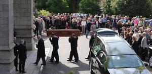 The funeral of BBC broadcaster Gerry Anderson takes place at St Eugene's Cathedral in Londonderry. Niall Carson/PA Wire