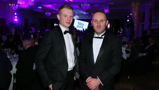 Press Eye - Belfast - Northern Ireland - 2nd February 2017 -    NI Year of Food & Drink Awards at the Culloden Hotel.  Lee Gibson and Richard Connor pictured at the NI Year of Food & Drink Awards at the Culloden Hotel.  Photo by Kelvin Boyes / Press Eye.