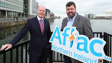 Joe O'Neill, from Belfast Harbour, and Keith Farley, from Aflac Northern Ireland