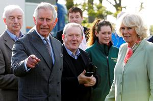 The Prince of Wales and Duchess of Cornwall attend the Sligo Races at Sligo Racecourse on day two of a four day visit to Ireland. PRESS ASSOCIATION Photo. Picture date: Wednesday May 20, 2015. See PA story ROYAL Ireland. Photo credit should read: Brian Lawless/PA Wire