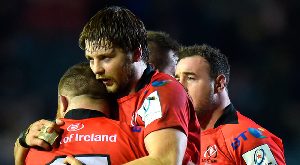 Big loss: Iain Henderson and the injured finger that will keep him out of Ireland's first few Six Nations clashes