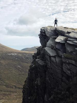 Paulo Ross up the Mourne Mountains.
