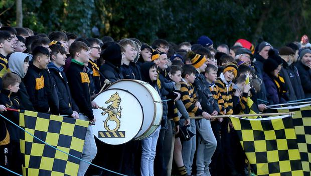 PACEMAKER PRESS BELFAST  8/2/2020  RBAI v BRA Schools Cup Rugby   Supporters during todayÕs match at Osborne Park, Malone Road.  Photo Laura Davison/Pacemaker Press