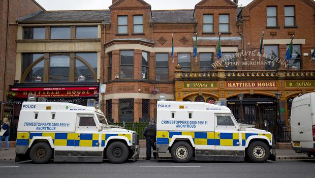 Police and HMRC carry out a search at the Hatfield Bar on the Ormeau Road on May 14th 2018 (Photo by Kevin Scott / Belfast Telegraph)