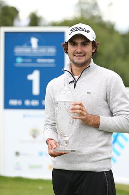 Open glory: France's Clément Sordet after winning last year's record-breaking NI Open at Galgorm Castle.