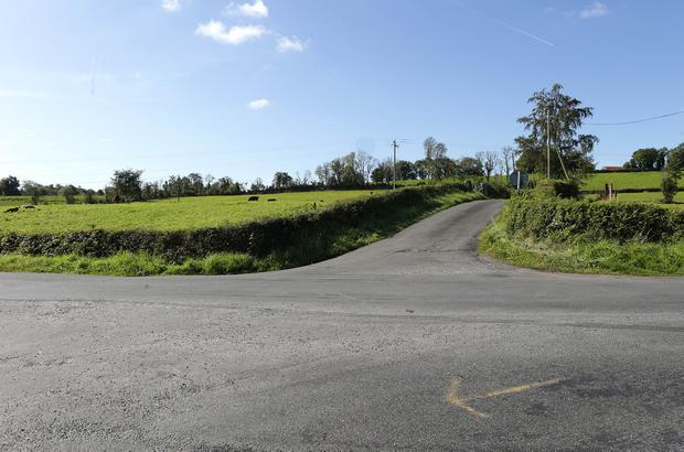 A crossroads at Drumcoughill, Cornafean, Co Cavan, where Mr Kevin Lunney, an executive of Quinn Industrial holdings was found after he was abducted at his home. Credit: Damien Eagers / INM
