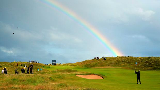 Some say at the end of a rainbow, there's a pot of gold. In reality, it's Darren Clarke.