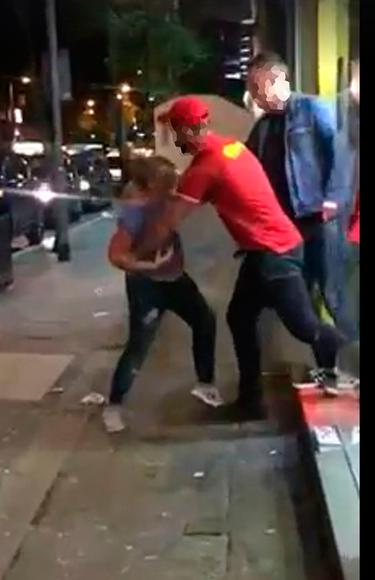 Woman Is Arrested As Pizza Parlour Row Footage Goes Viral