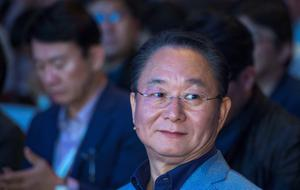 Eom Young-Hoon, President and CEO of Samsung Electronics Europe waits for the start of Samsung's presentation at the 55th IFA (Internationale Funkausstellung) electronics trade fair in Berlin on September 3, 2015.  IFA, Europe's largest consumer electronics and home appliances fair opens from September 4 to September 9, 2015.  AFP PHOTO / JOHN MACDOUGALLJOHN MACDOUGALL/AFP/Getty Images