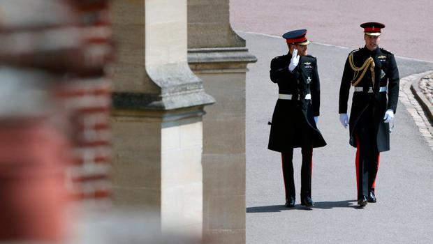 Prince Harry (left) and the Duke of Cambridge arrive for the wedding of Prince Harry and Meghan Markle at Windsor Castle. PRESS ASSOCIATION Photo. Picture date: Saturday May 19, 2018. See PA story ROYAL Wedding. Photo credit should read: Andrew Matthews/PA Wire