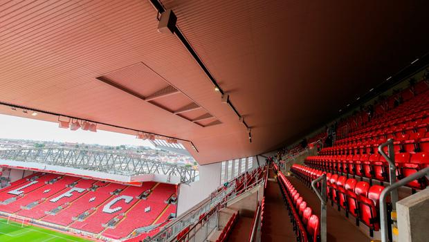 LIVERPOOL, ENGLAND - SEPTEMBER 09: General images of the new stand and facilities during the opening event of the Anfield Home of Liverpool Main Stand, at Anfield on September 9, 2016 in Liverpool, England. (Photo by Barrington Coombs/Getty Images)