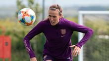 Eyes on the prize: England's Jill Scott is appearing in her fourth World Cup