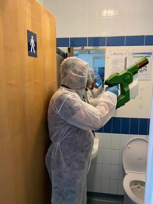 The chemicals are being applied at stations, on trains and in staff areas (Govia Thameslink Railway/PA)