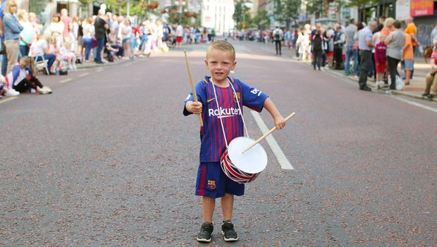 Blake McCord(4) from north Belfast pictured in Royal Avenue in the city centre. Picture by Jonathan Porter/PressEye.com