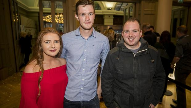 Pictured fans Louise Fitzgerald, Ryan Cushnahan, and Tom Fitzgerald