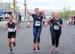 Press Eye Belfast - Northern Ireland 10th September 2017  Pure Running's and The Belfast Telegraph's RunHer Titanic 5k and 10k race in the Titanic Quarter of Belfast.   Picture by Jonathan Porter/PressEye.com
