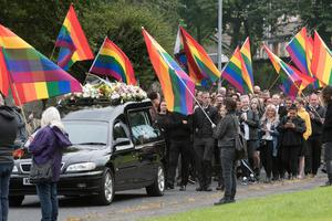 The funeral of gay rights activist Susannah Toland who died suddenly at the weekend, aged 45.
