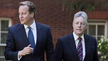 Former Prime Minister David Cameron with then-DUP chief Peter Robinson at Downing Street in 2013