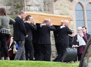 Hundreds turned out for the funeral of Catherine Kenny who died on Belfast streets.