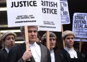 Barristers have previously staged strikes against funding cuts to the legal system (Stefan Rousseau/PA)