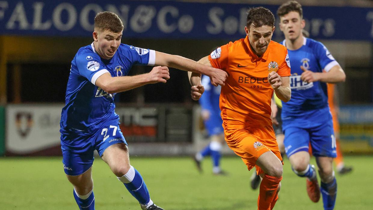 Conor McCloskey inspires Glenavon to narrow win over Dungannon Swifts as  two sent off - BelfastTelegraph.co.uk