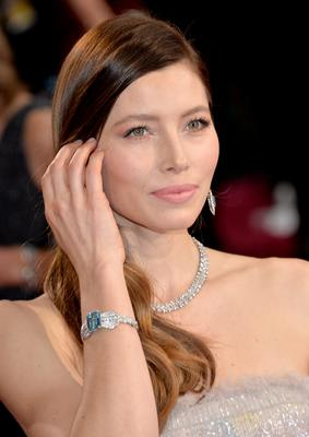 HOLLYWOOD, CA - MARCH 02:  Actress Jessica Biel attends the Oscars held at Hollywood & Highland Center on March 2, 2014 in Hollywood, California.  (Photo by Michael Buckner/Getty Images)