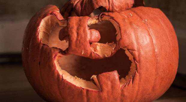 Fun alternatives: a used pumpkin