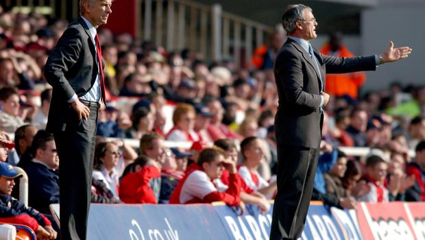 Former Arsenal manager Arsene Wenger and Claudio Ranieri went head to head in both the Premier League and Europe (Neal Simpson/EMPICS Sport)