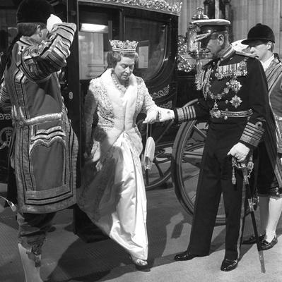 File photo dated 22/11/1988 of The Duke of Edinburgh helping Queen Elizabeth II to alight from the new £120,000 Australia State Coach, Australia's bicentennial gift, at the Houses of Parliament as they arrive for the State Opening as she turns 90 on the April 21st. PRESS ASSOCIATION Photo. Issue date: Sunday April 3, 2016. See PA story ROYAL Birthday. Photo credit should read: David Jones/PA Wire