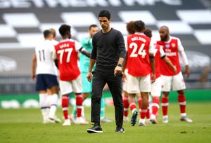Arsenal's European aspirations took a blow after the north London derby defeat (Julian Finney/NMC Pool)