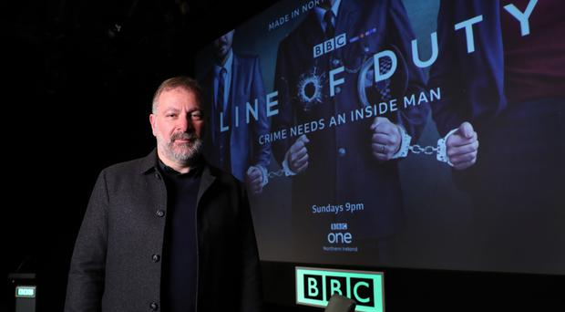 Photo by William Cherry/Presseye Pictured at a special Belfast preview screening of the first episode of series 5 of Line Of Duty is series writer and creator Jed Mercurio.