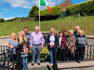 Sinn Fein vice president Michelle O'Neill at the commemoration for IRA man Peadar McElvanna on the 40th anniversary of his death