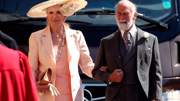 Prince and Princess Michael of Kent arrive at St George's Chapel at Windsor Castle for the wedding of Meghan Markle and Prince Harry. PRESS ASSOCIATION Photo. Picture date: Saturday May 19, 2018. See PA story ROYAL Wedding. Photo credit should read: Chris Radburn/PA Wire