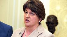 PACEMAKER BELFAST  24/6/2016 First Minister Arlene Foster gives her and the DUPs reaction to the Brexit vote at Stormont Castle this morning.