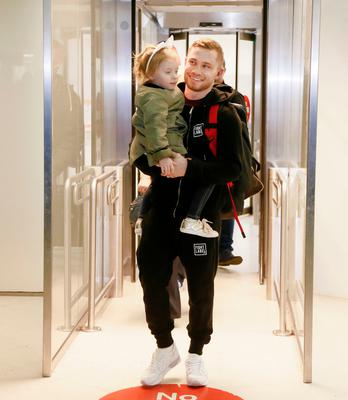 Carl Frampton with his daughter Carla in Belfast on February 28, 2016. ( Photo by Kevin Scott / Presseye )