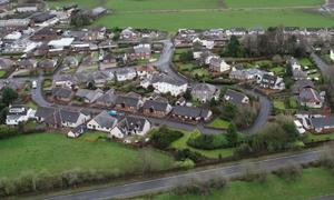 An aerial view of Lockerbie on the 30th anniversary of the disaster (PA)