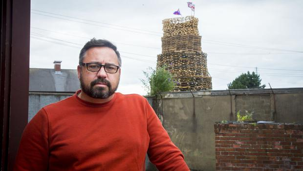Pastor Lucas Parks at his church in east Belfast close to the walkway bonfire on July 10th 2017 (Photo by Kevin Scott / Belfast Telegraph)