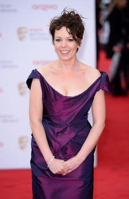 Olivia Colman arriving for the 2013 Arqiva British Academy Television Awards at the Royal Festival Hall, London. PRESS ASSOCIATION Photo. Picture date: Sunday May 12, 2013. See PA story SHOWBIZ Bafta. Photo credit should read: Dominic Lipinski/PA Wire