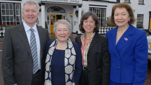Moira O'Neill (second left) with her late son Frankie (left) and daughters Francine and Marnie (right)