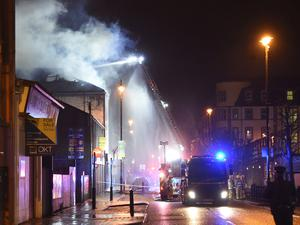 Fire at the Envy nightclub at Strand Road.