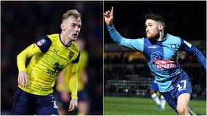 Oxford's former Glenavon midfielder Mark Sykes (left) and Wycombe Wanderers' ex-Linfield forward Paul Smyth (right) are going to Wembley.