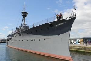 HMS Caroline has been closed since March.
