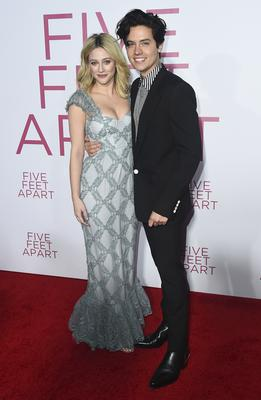 Lili Reinhart and Cole Sprouse at the premiere of Five Feet Apart (Jordan Strauss/Invision/AP)