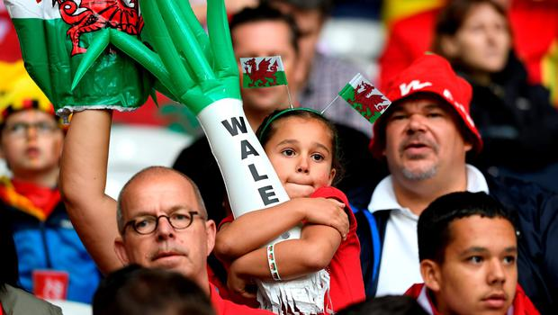 LILLE, FRANCE - JULY 01:  A young Wales supporter is seen prior to the UEFA EURO 2016 quarter final match between Wales and Belgium at Stade Pierre-Mauroy on July 1, 2016 in Lille, France.  (Photo by Stu Forster/Getty Images)