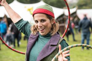 Silvia Levi from In Your Space entertaining with her hula-hoop.