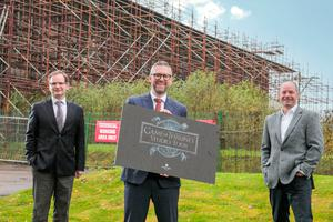 From left, David Browne, director at Linen Mill Studios, David McCurley, director of Whiterock Finance and Andrew Webb, director at Linen Mill Studios